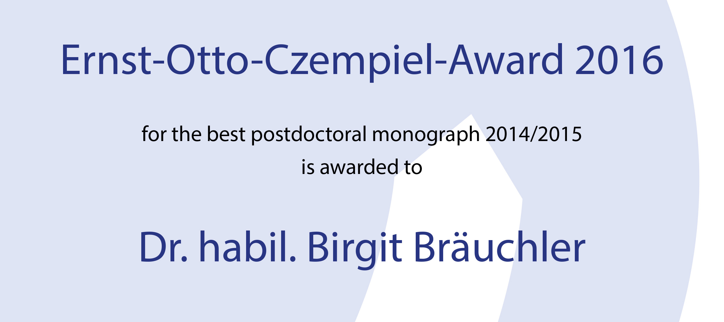 Ernst-Otto Czempiel Award 2016 for Social Anthropologist Birgit Bräuchler