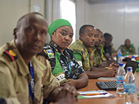 Offiziere der Afrikanischen Union bei einem Mediationstraining in Somalia. (Photo: AMISOM Public Information, flickr, http://bit.ly/2FOmIsD, CCO 1.0)