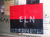 ELN Guerrilla Poster, National University of Colombia (Foto: Flickr, https://bit.ly/2DMnKCS, C BY SA 2.0)