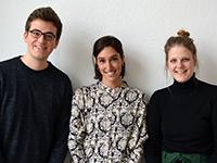 Ben Christian, Estefania Lopez-Granados und Jana Baldus (Foto: PRIF)