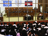 The Extraordinary Chambers in the Courts of Cambodia (Photo: flickr, Courtesy of Extraordinary Chambers in the Courts of Cambodia, https://bit.ly/2J131et, CC BY 2.0)
