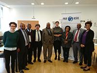 Delegation aus Äthiopien mit Antonia Witt und Nicole Deitelhoff (Foto: HSFK)