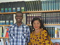 Prof. Olayemi Akinwumi and Stacy Ann Chinedu Nwodo (Foto: HSFK)