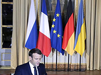 Emmanuel Macron auf dem Normandie-Gipfel im Dezember 2019 in Paris |  Photo: picture alliance/ZUMA Press