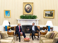 "HSFK-Report Nr. 1/2017: ""America first"" (Foto: Wikimedia Commons, Pete Souza)"