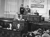 The Egyptian People's Assembly in full session, 1977 (Photo: Rachad el Koussy, Wikimedia Commons)
