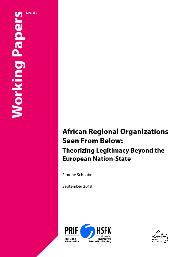 Download: African Regional Organizations Seen From Below: Theorizing Legitimacy Beyond the European Nation-State