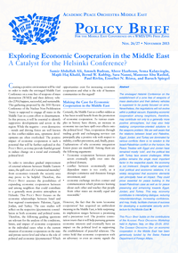Download: Exploring Economic Cooperation in the Middle East