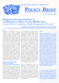 Download: Religious Fundamentalism as an Obstacle to Peace in the Middle East