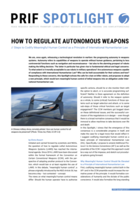 Download: How to Regulate Autonomous Weapons
