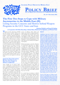 Download: The First Two Steps to Cope with Military Asymmetries in the Middle East (II)