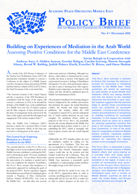 Download: Building on Experiences of Mediation in the Arab World.
